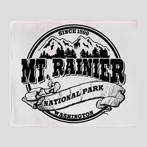 Mt. Rainier Old Circle Throw Blanket