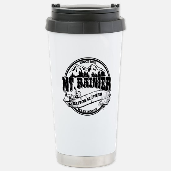 Mt. Rainier Old Circle Stainless Steel Travel Mug