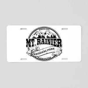Mt. Rainier Old Circle Aluminum License Plate
