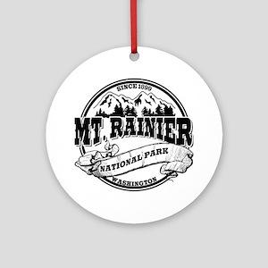 Mt. Rainier Old Circle Ornament (Round)