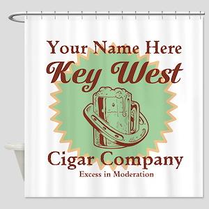 Key West Cigar Company Shower Curtain