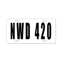 4/20 Aluminum License Plate