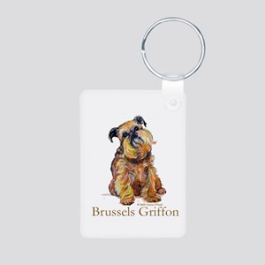 Brussels Griffon Aluminum Photo Keychain