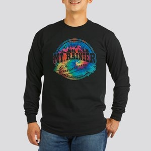 Mt. Rainier Old Circle Long Sleeve Dark T-Shirt
