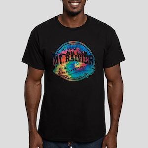 Mt. Rainier Old Circle Men's Fitted T-Shirt (dark)