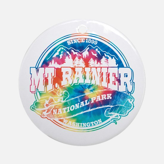 Mt. Rainier Old Circle Ornament (Round)