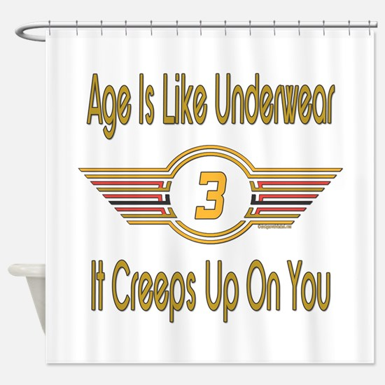 Funny 3rd Birthday Shower Curtain