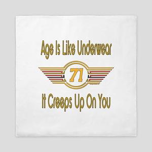 Funny 71st Birthday Queen Duvet