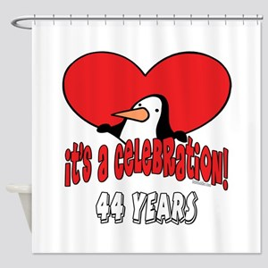 44th Celebration Shower Curtain