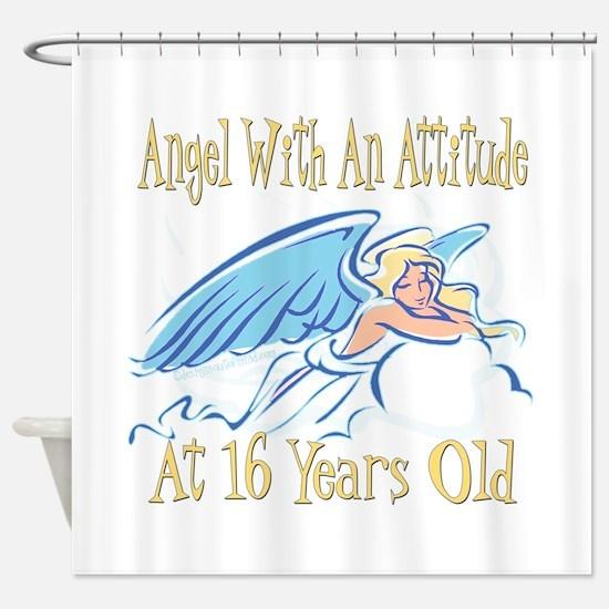 Angel Attitude 16th Shower Curtain
