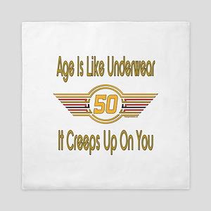 Funny 50th Birthday Queen Duvet