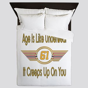 Funny 61st Birthday Queen Duvet