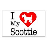 I Love My Scottish Terrier Sticker (Rectangle)