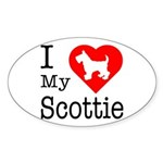 I Love My Scottish Terrier Sticker (Oval 10 pk)