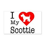 I Love My Scottish Terrier 22x14 Wall Peel