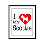 I Love My Scottish Terrier Framed Panel Print