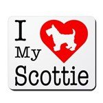 I Love My Scottish Terrier Mousepad