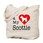 I Love My Scottish Terrier Tote Bag