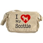 I Love My Scottish Terrier Messenger Bag
