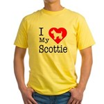 I Love My Scottish Terrier Yellow T-Shirt