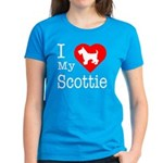 I Love My Scottish Terrier Women's Dark T-Shirt