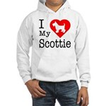 I Love My Scottish Terrier Hooded Sweatshirt