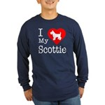 I Love My Scottish Terrier Long Sleeve Dark T-Shir
