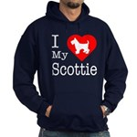 I Love My Scottish Terrier Hoodie (dark)
