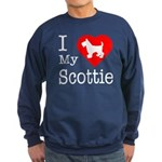 I Love My Scottish Terrier Sweatshirt (dark)