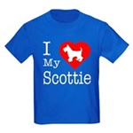 I Love My Scottish Terrier Kids Dark T-Shirt