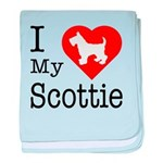I Love My Scottish Terrier baby blanket