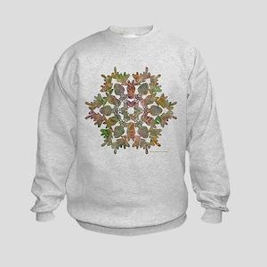Moose Snowflake Kids Sweatshirt