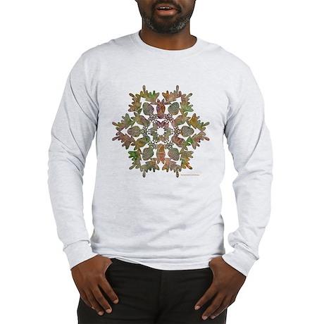Moose Snowflake Long Sleeve T-Shirt
