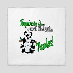 Happiness is Pandas Queen Duvet