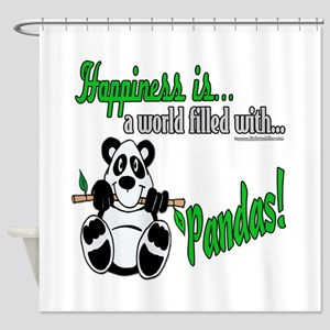 Happiness is Pandas Shower Curtain
