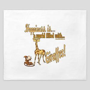 Happiness is a giraffe King Duvet