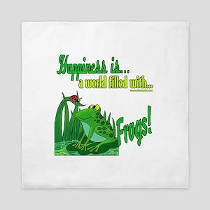 Happiness is a Frog Queen Duvet