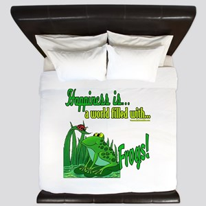 Happiness is a Frog King Duvet