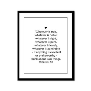 PHILIPPIANS 4:8 Framed Panel Print
