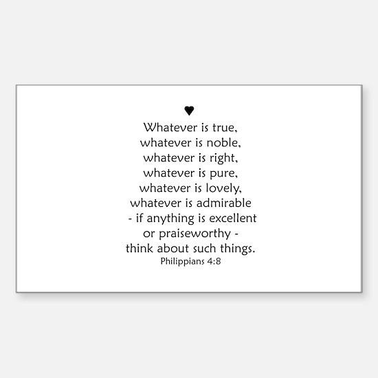 PHILIPPIANS 4:8 Sticker (Rectangle)