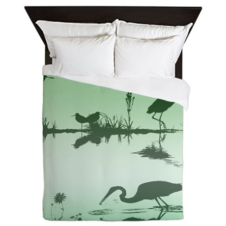Morning on the water Queen Duvet