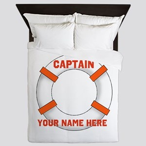 Customizable Life Preserver Queen Duvet