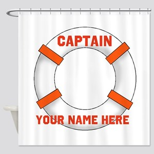 Customizable Life Preserver Shower Curtain
