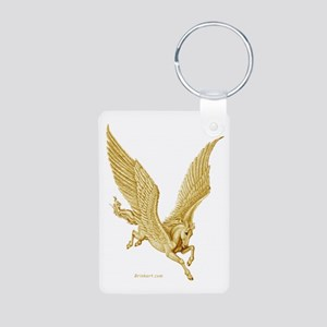 Golden Pegasus Aluminum Photo Keychain