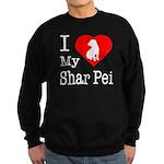 I Love My Shar Pei Sweatshirt (dark)