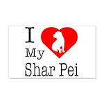 I Love My Shar Pei 22x14 Wall Peel