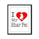 I Love My Scottish Terrier Framed Panel Print