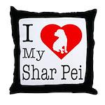 I Love My Shar Pei Throw Pillow