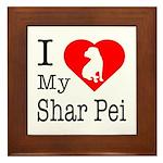 I Love My Shar Pei Framed Tile