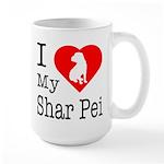 I Love My Scottish Terrier Large Mug